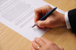 Подписание трудового контракта
