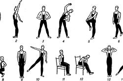 Последовательность упражнений производственной гимнастики