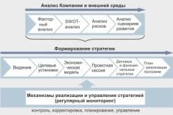 Ход разработки и внедрения стратегий