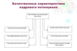 Качественные характеристики кадрового потенциала