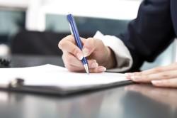 Подпись руководителя организации для заверения отчетов