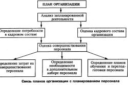 Связь планов организации с планированием персонала