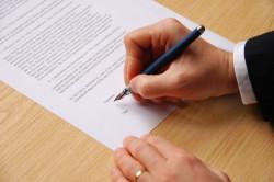 Подписания заявления об увольнении