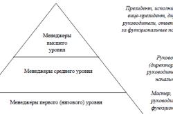 Уровни управления персоналом организации
