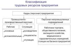 Классификация трудовых ресурсов предприятия